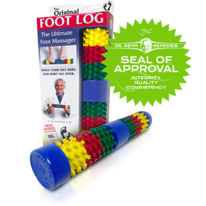 Dr. Rehm Remedies Foot Log - Reduce foot pain, and provide relief. Great relief for people with Plantar Fasciitis